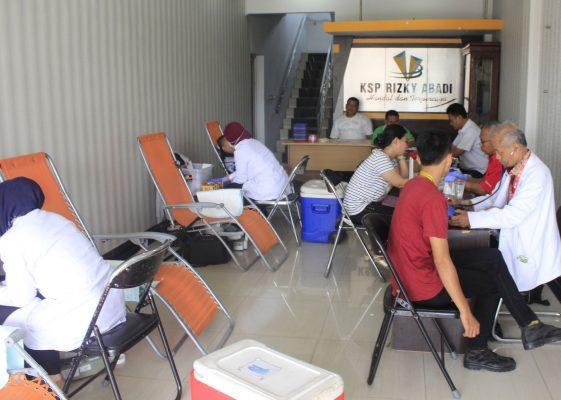 Koperasi Rizky Abadi dan kegiatan donor darah